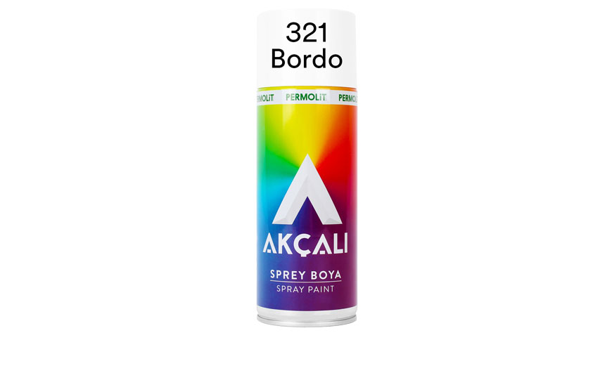 Akçalı 321 Bordo Sprey Boya 400ml